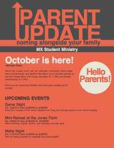 Oct Parent Newsletter