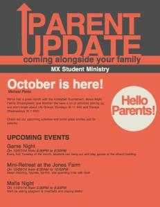 Oct Parent Newsletter
